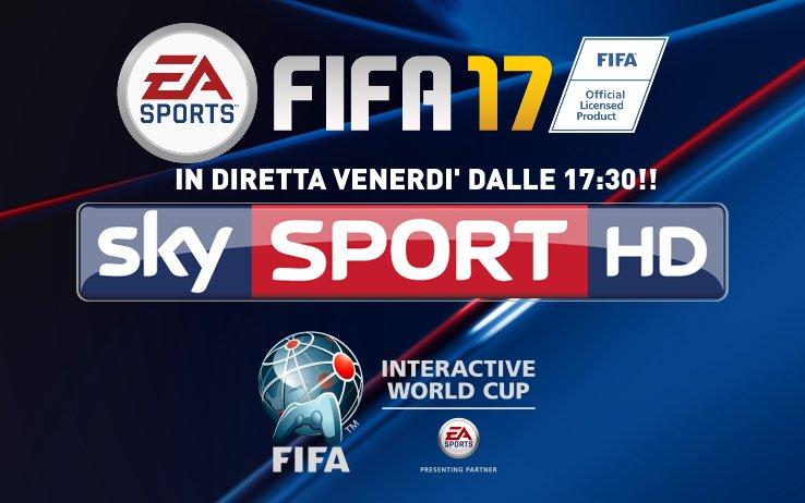 FIWC17 – In Diretta per la 1aVolta un evento eSport su SkySport Italia